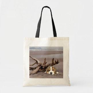 Beagle Driftwood Tote Bag
