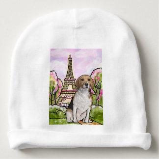 beagle eiffel tower paris baby beanie