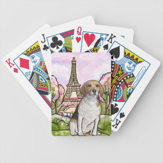 beagle eiffel tower paris bicycle playing cards