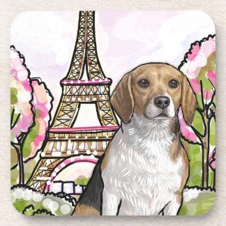 beagle eiffel tower paris coaster