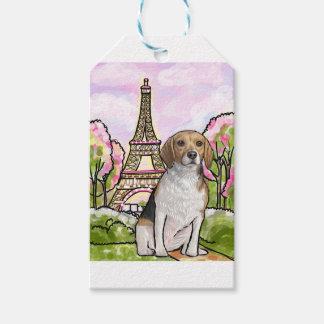 beagle eiffel tower paris gift tags