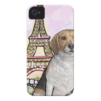 beagle eiffel tower paris iPhone 4 cover