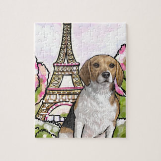 beagle eiffel tower paris jigsaw puzzle