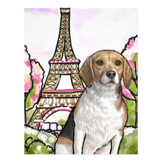 beagle eiffel tower paris letterhead
