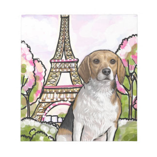 beagle eiffel tower paris notepad