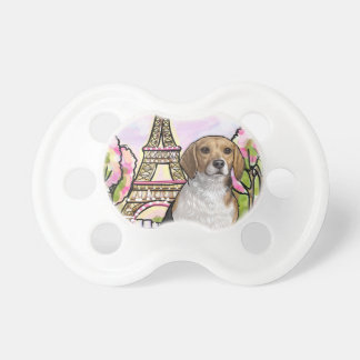 beagle eiffel tower paris pacifier