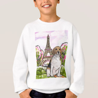 beagle eiffel tower paris sweatshirt