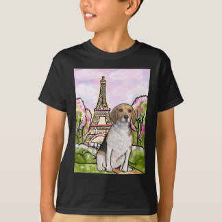 beagle eiffel tower paris T-Shirt