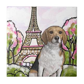 beagle eiffel tower paris tile