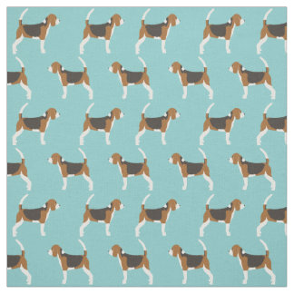 Beagle fabric - cute beagle dog fabric for quilts