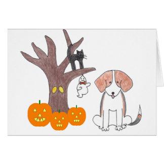 Beagle Fall Card