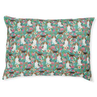 Beagle Floral Pet Beds - beagle dog bed