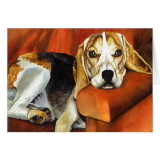 Beagle, Greeting Card