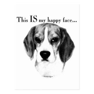 Beagle Happy Face Postcard