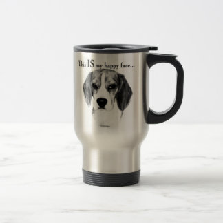 Beagle Happy Face Travel Mug