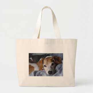 Beagle-Harrier Dog Large Tote Bag