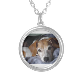 Beagle-Harrier Dog Silver Plated Necklace