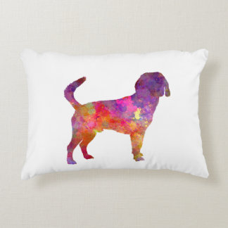 Beagle Harrier in watercolor Accent Pillow