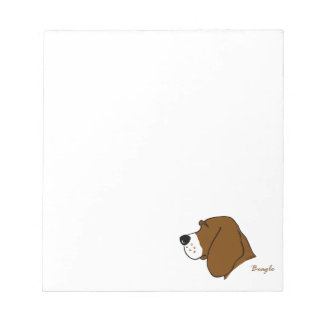 Beagle head silhouette notepads