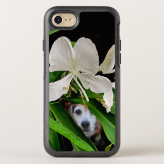 Beagle Hiding in the Garden OtterBox Symmetry iPhone 8/7 Case