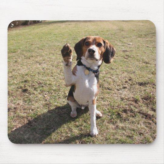 Beagle High Five Mouse Pad