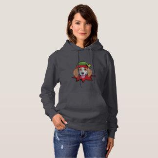 Beagle Hoodie Funny Elf Christmas Gift Shirt