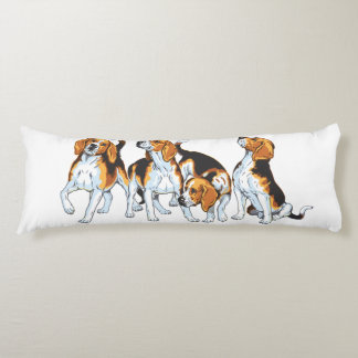beagle hound body pillow