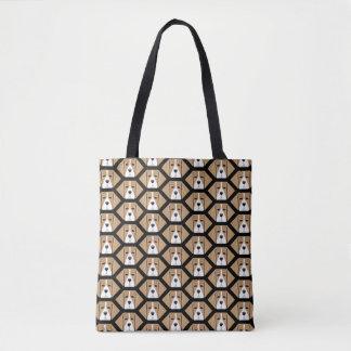 Beagle Hound Honeycomb Pattern Tote