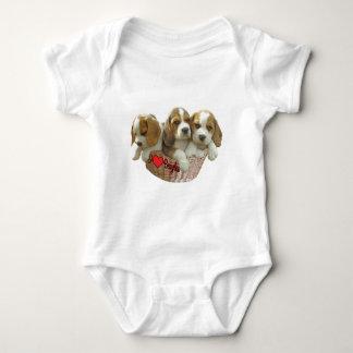 Beagle Hound Pups, I Love Beagles Baby Bodysuit