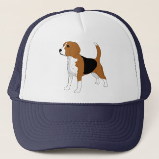 Beagle Illustration Trucker Hat
