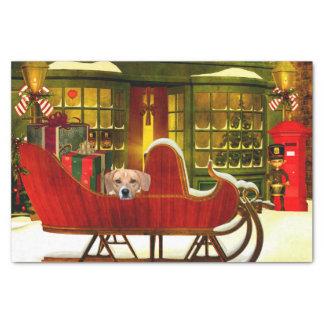 Beagle in a Christmas sleigh Tissue Paper