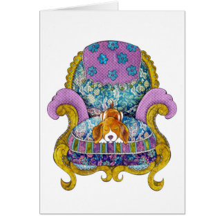 Beagle in Chair Card