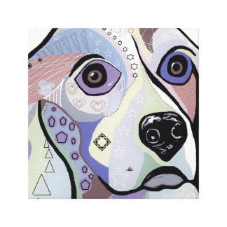 BEAGLE in DENIM Colors Canvas Print