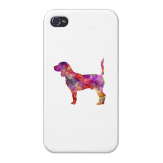 Beagle in watercolor 2 iPhone 4 covers
