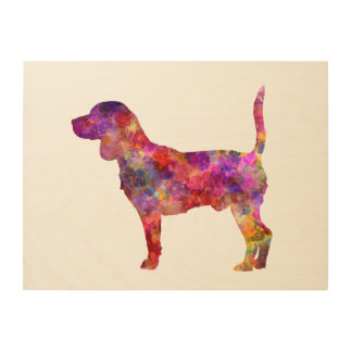 Beagle in watercolor 2 wood wall art