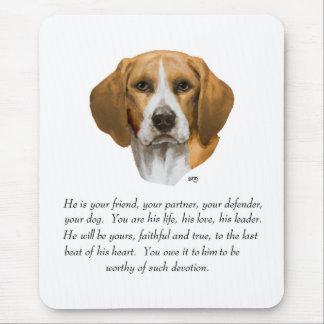 Beagle Keepsake MALE Mouse Pads