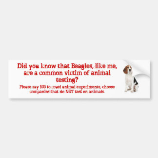 Beagle Like me/animal testing Bumper Sticker