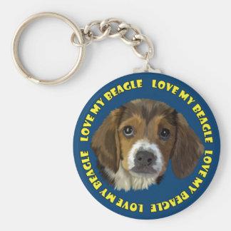 Beagle Love My Beagle Keychain