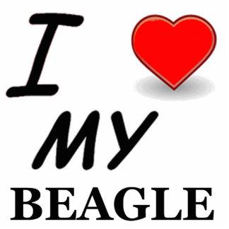 beagle love photo sculpture keychain