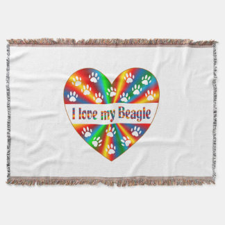 Beagle Love Throw Blanket