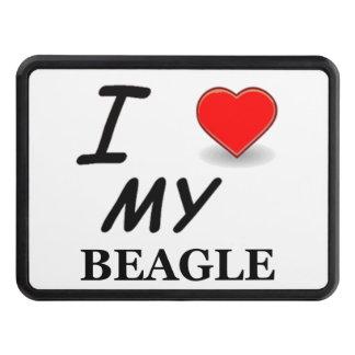 beagle love trailer hitch cover