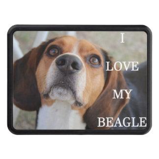 beagle love w pic black red white trailer hitch cover