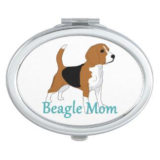 Beagle Mom Hound Dog Lover Makeup Mirrors