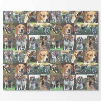 Beagle Montage Wrapping Paper to Howl About