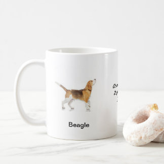 Beagle Mug - With two images and a motif