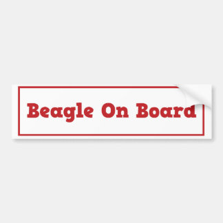 Beagle On Board Bumper Sticker