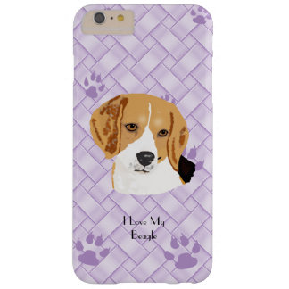 Beagle on Lavender Weave 6/6s+ Barely There iPhone 6 Plus Case