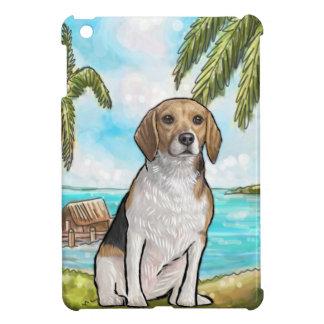 Beagle on Vacation Tropical Beach iPad Mini Cover