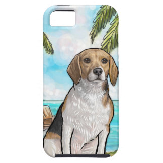 Beagle on Vacation Tropical Beach iPhone 5 Case