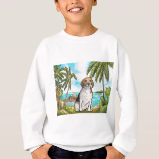 Beagle on Vacation Tropical Beach Sweatshirt